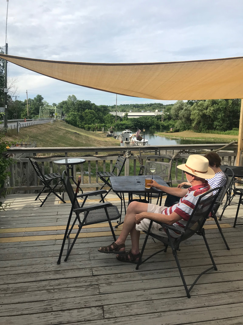 Relaxing by the Erie Canal